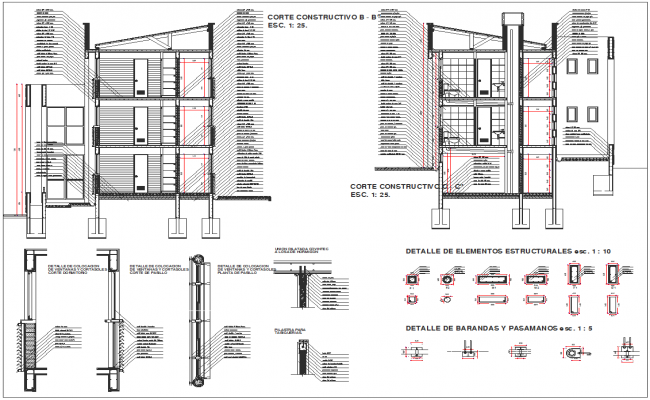 facade section detail cad files