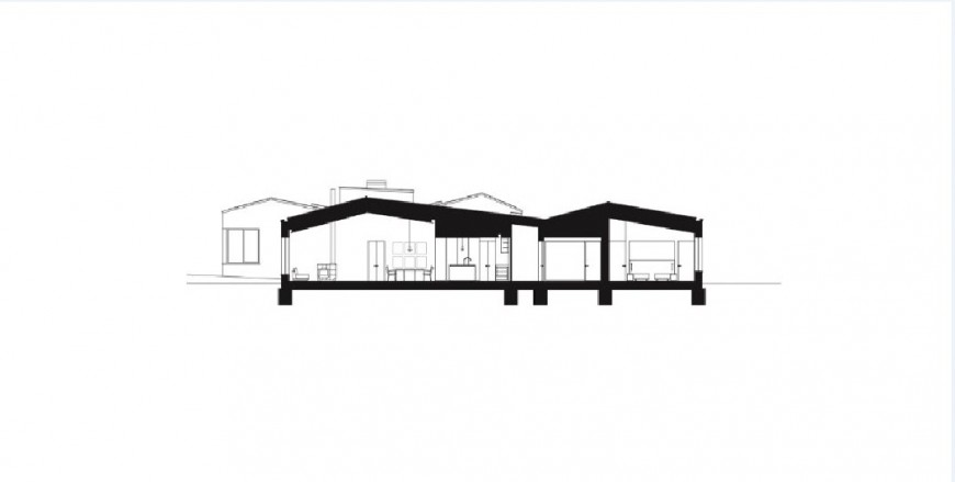 Facade sectional drawing details of one story house jpg file