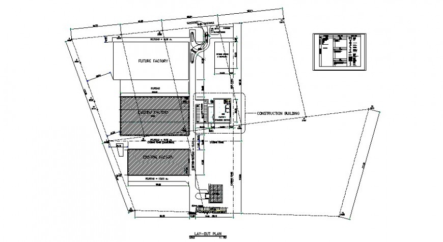 Factory with canteen site layout plan cad drawing details dwg file