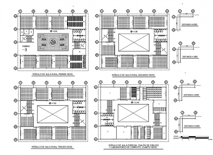 Faculty of engineering college floor plan cad drawing details dwg file