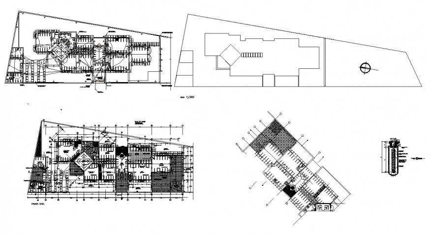 Family house distribution layout plan cad drawing details dwg file