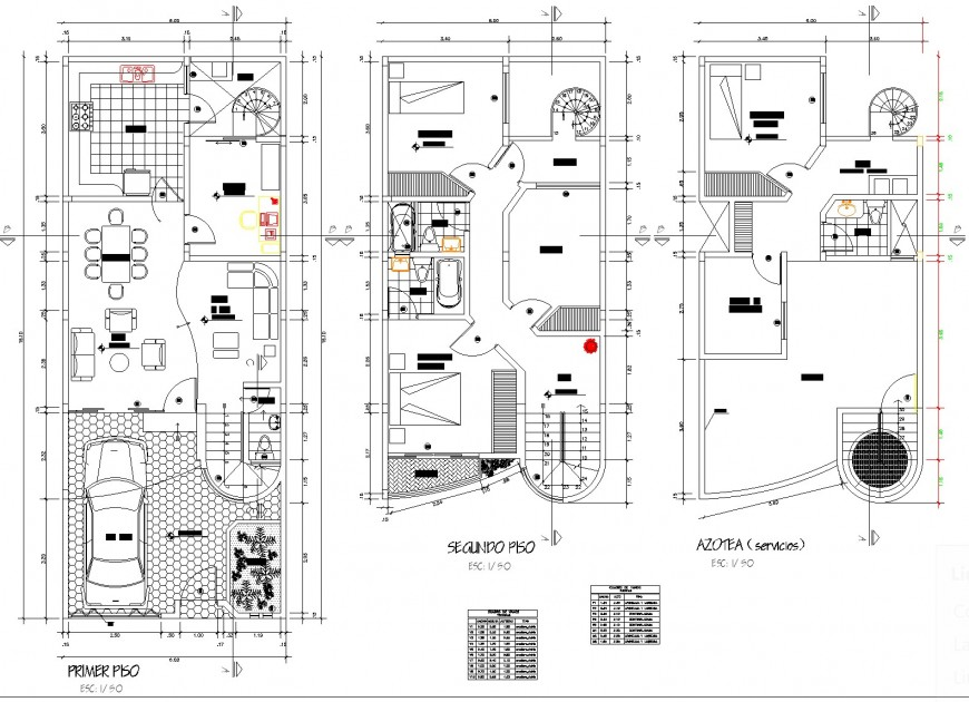 Family housing planning layout file