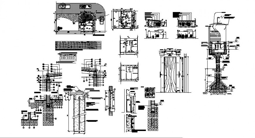 Family residence project detail cad file