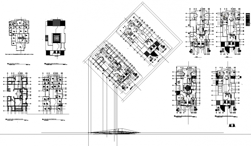 Family residency building plan layout file