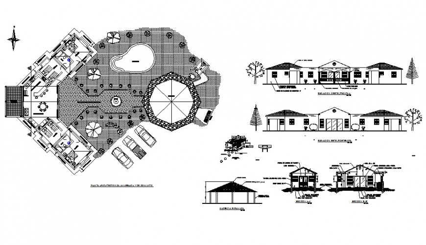 Farm house detail drawing in AutoCAD file.