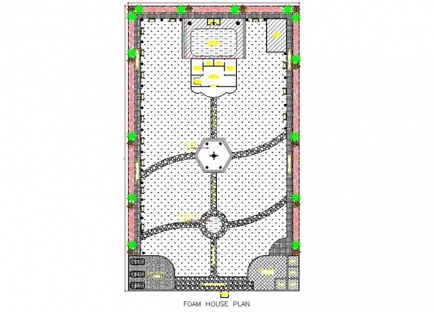 Farm house plan detail 2d view CAD block layout file in dwg format