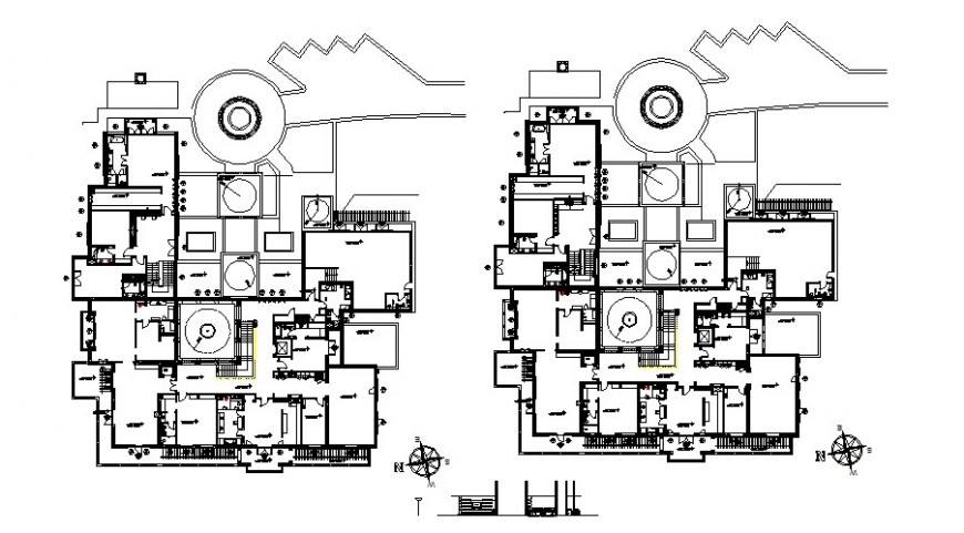 Farmhouse plan drawing in dwg file.