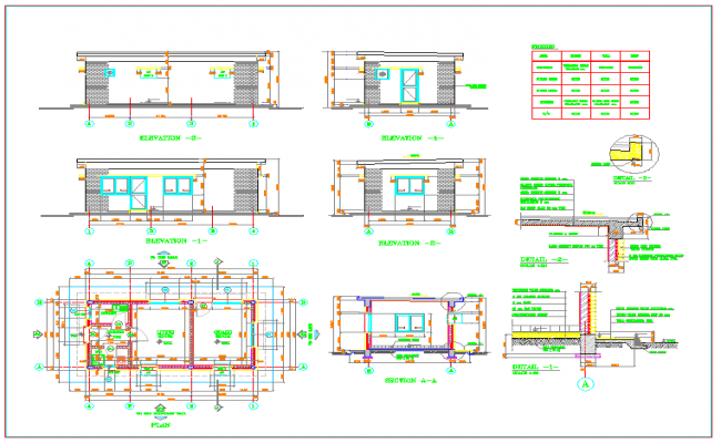 Guard house plan for Guard house design layout