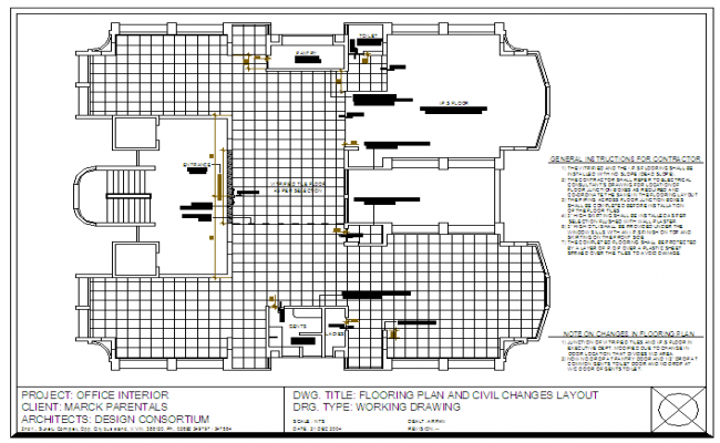 Office Flooring design