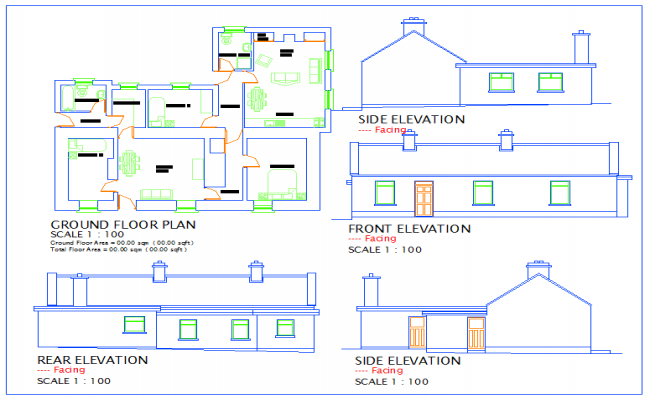 3 BHK house plan