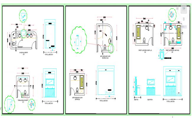 Bath room Design Plan