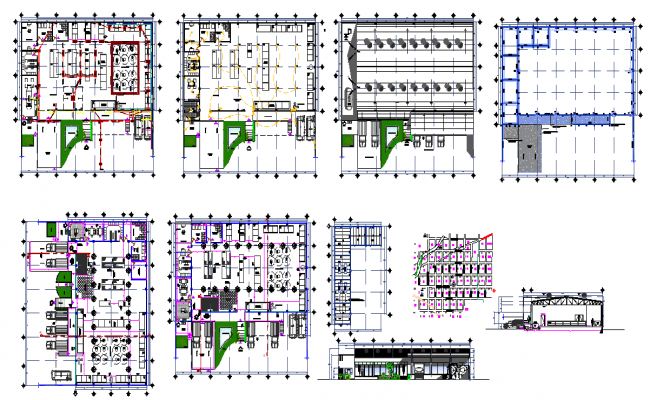 Shopping Mall Plan design file