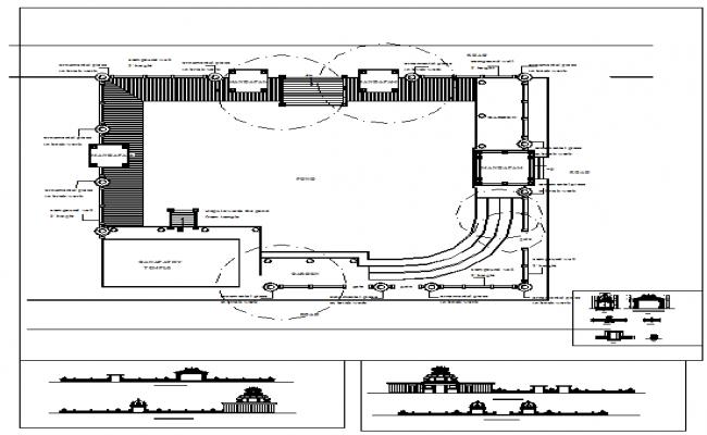 Temple Plan & Elevation