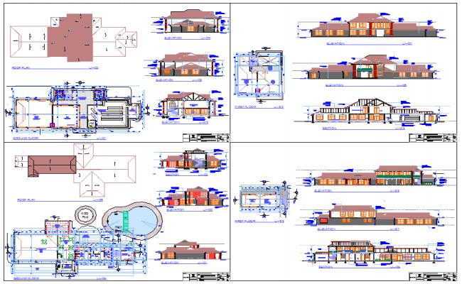 Modern Villas design plan