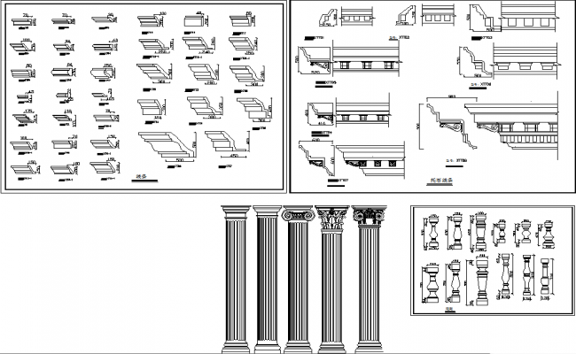 detailed columns, cornices only Roman