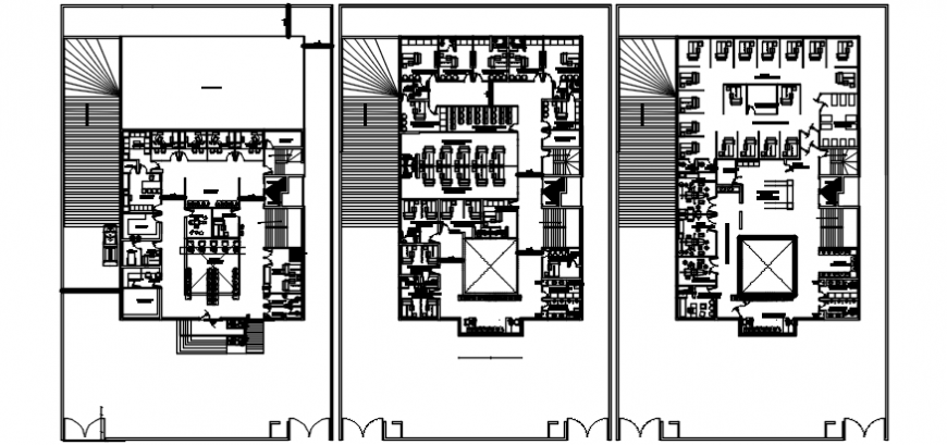 Fifth, sixth and seventh floor distribution plan cad drawing details dwg file