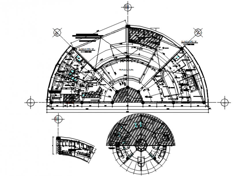 Fifth floor plan of clinic of B type in AutoCAD