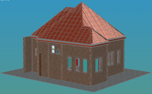 final house 3d layout dwg file