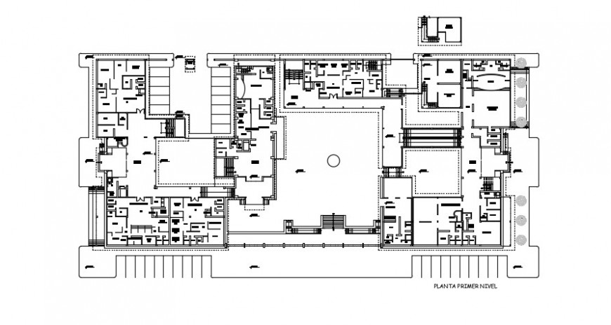 financial corporation office project cad file