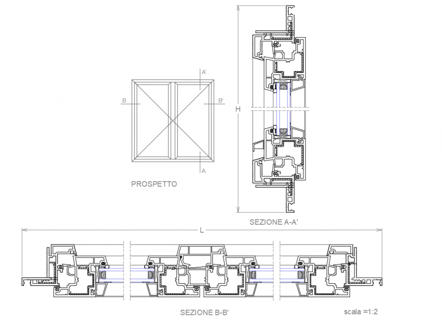 Fine n pvc pipes section cad drawing details dwg file