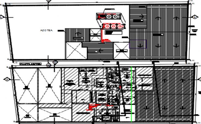 fire complex design dwg file