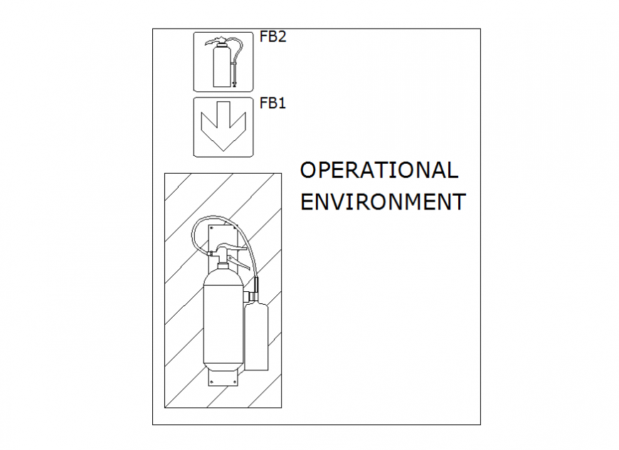 Fire operational environment dwg file.