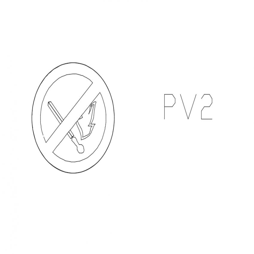 Fire sign pro symbol cad block design dwg file