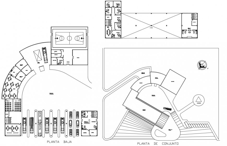 Fire station distribution and floor plan cad drawing details dwg file
