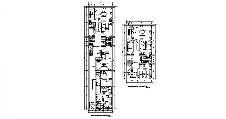 First and second floor layout plan details of doctor's clinic dwg file