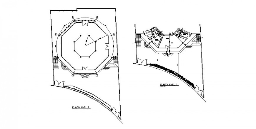 First and second floor plan details of house dwg file