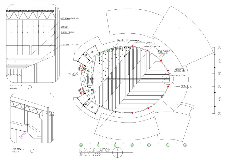 First floor commercial building plan layout file