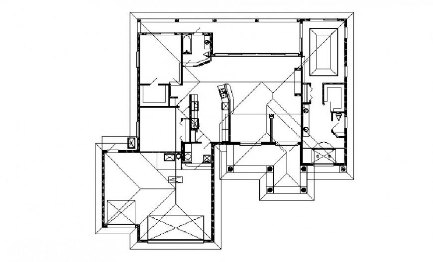 First floor framing plan structure details of one family house dwg file