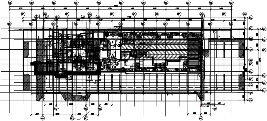 First floor layout plan details of club house cad drawing details dwg file