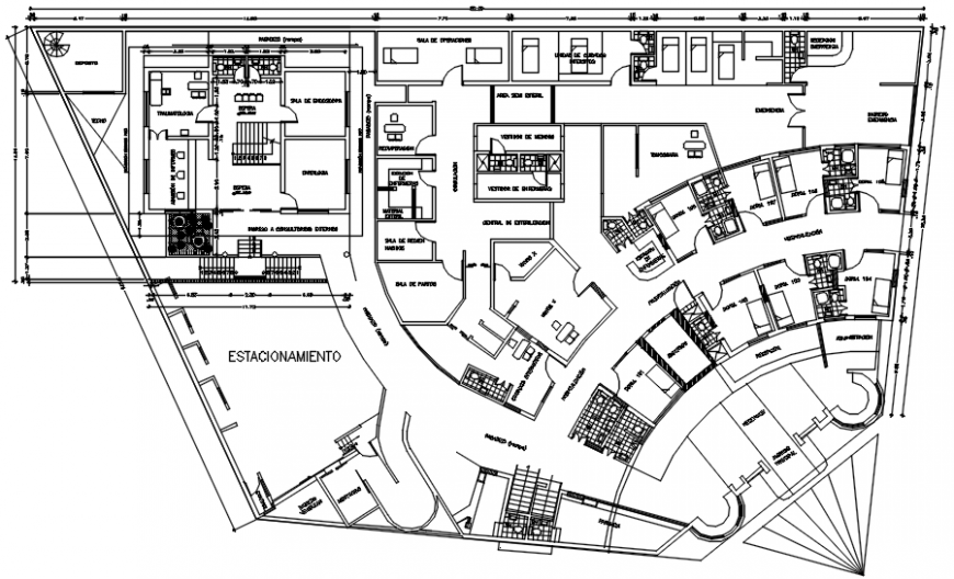 First floor plan clinic in AutoCAD file