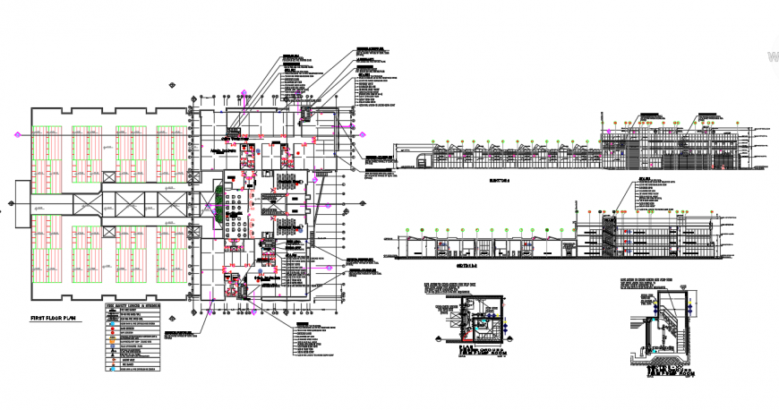 First Floor Restaurant Plan Lay-out detail