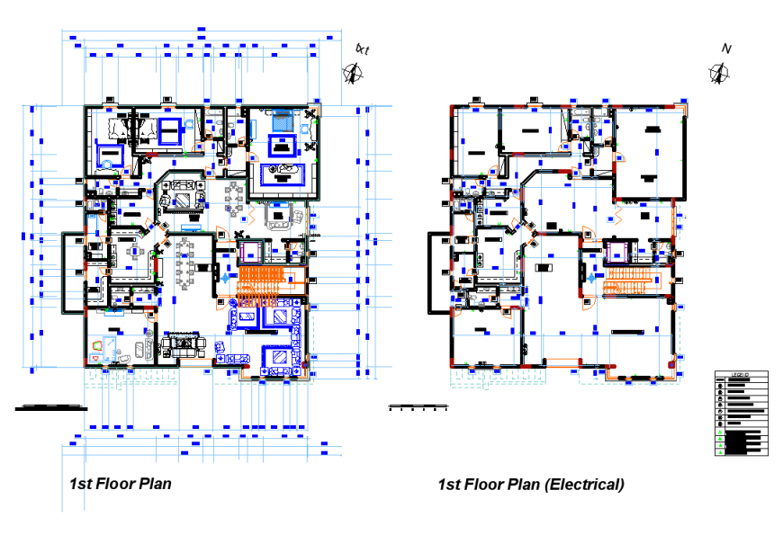 First floor villa hose plan layout file