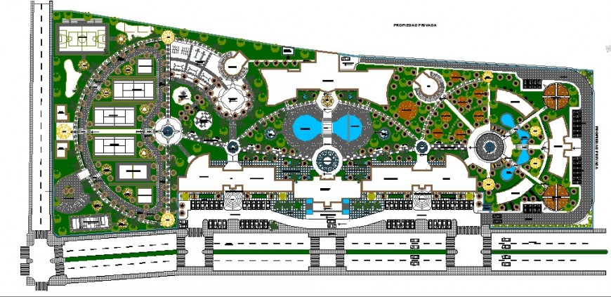 Five star multi level hotel building distribution layout plan cad drawing details dwg file