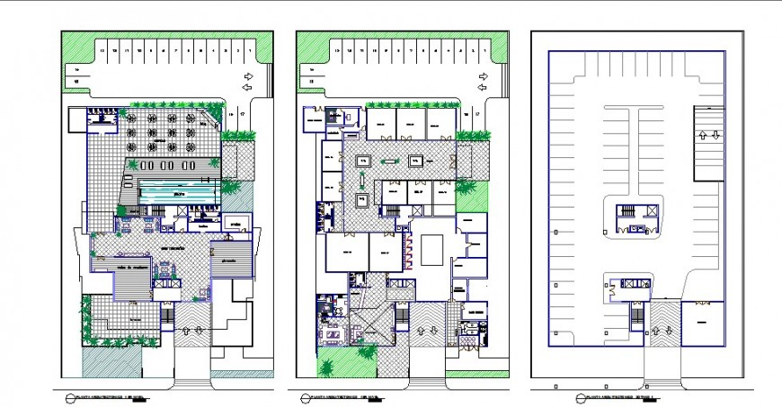 Floor distribution layout plan details of apartment building dwg file