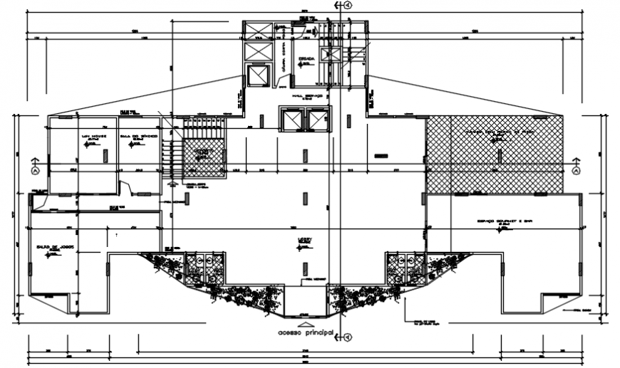 Floor distribution layout plan details of apartment flat building dwg file