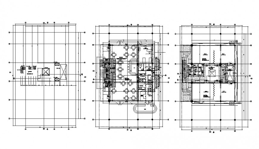 Floor distribution layout plan details of luxuries villa building dwg file