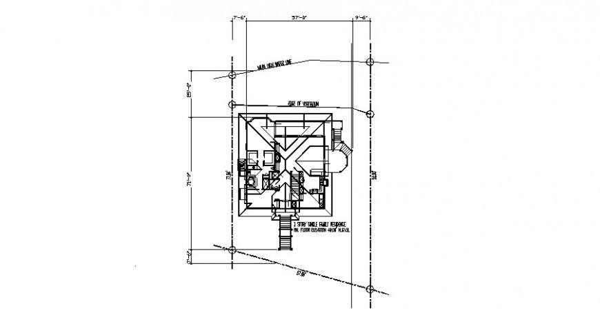Floor framing plan structure details for existing house dwg file