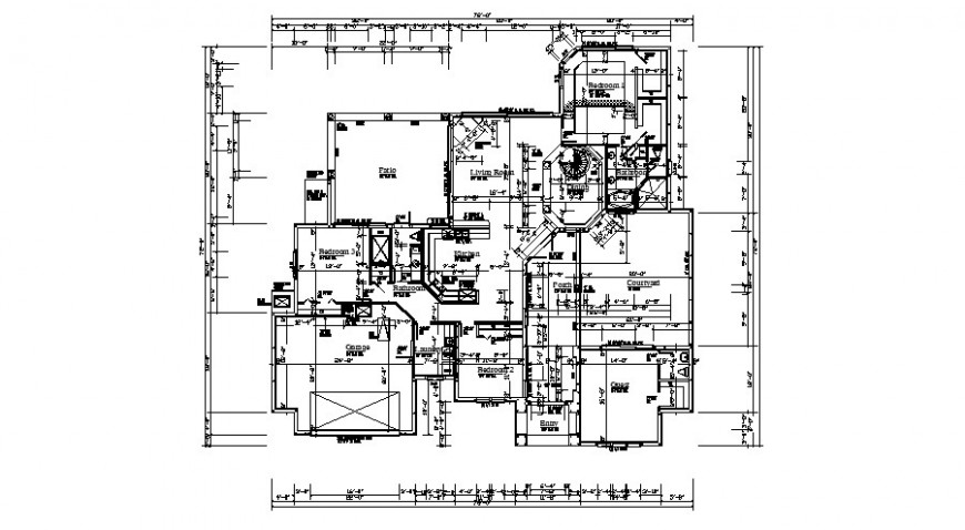 Floor framing plan structure details of one family house dwg file