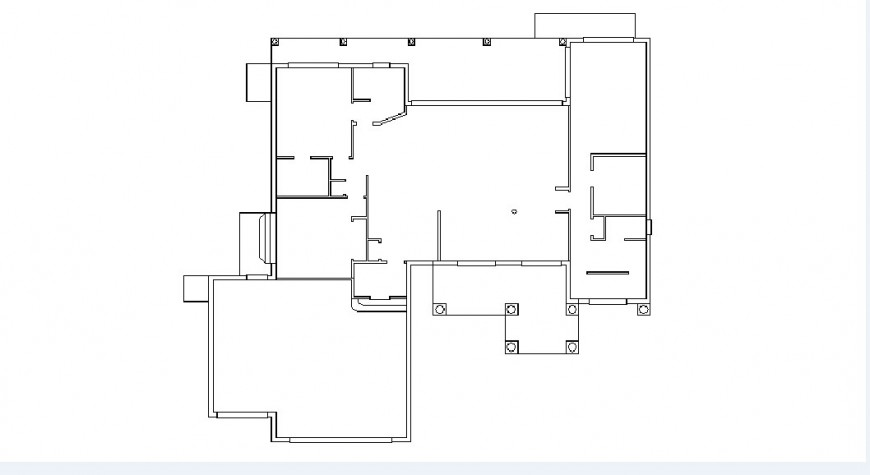 Floor framing plan structure for apartment floor dwg file