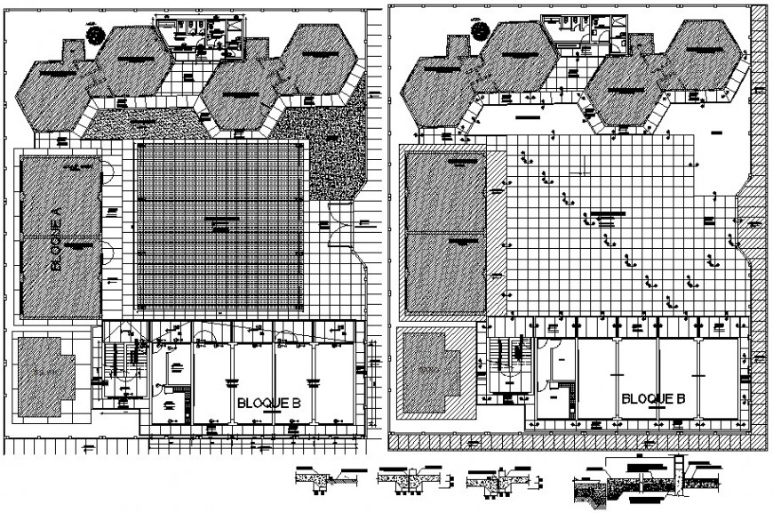 floor layout detail top view cad file