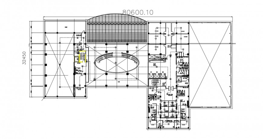 Floor layout plan of fire alarm in autocad