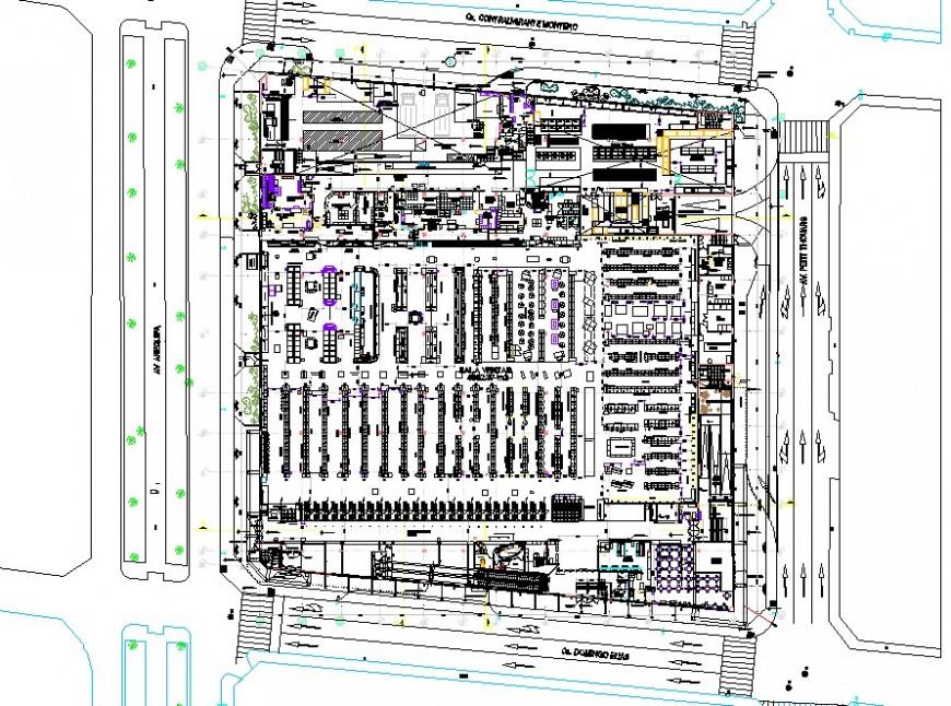 Floor layout plan top view detail
