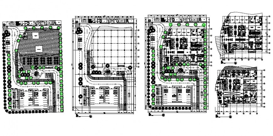 Floor plan and distribution plan details of maternity hospital dwg file