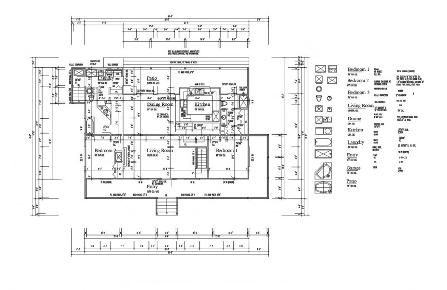 Floor plan and floor framing plan structure details of house dwg file
