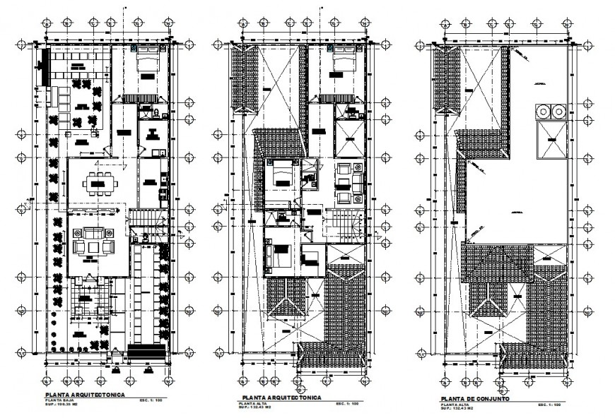 Floor plan details drawings of housing living apartment dwg file