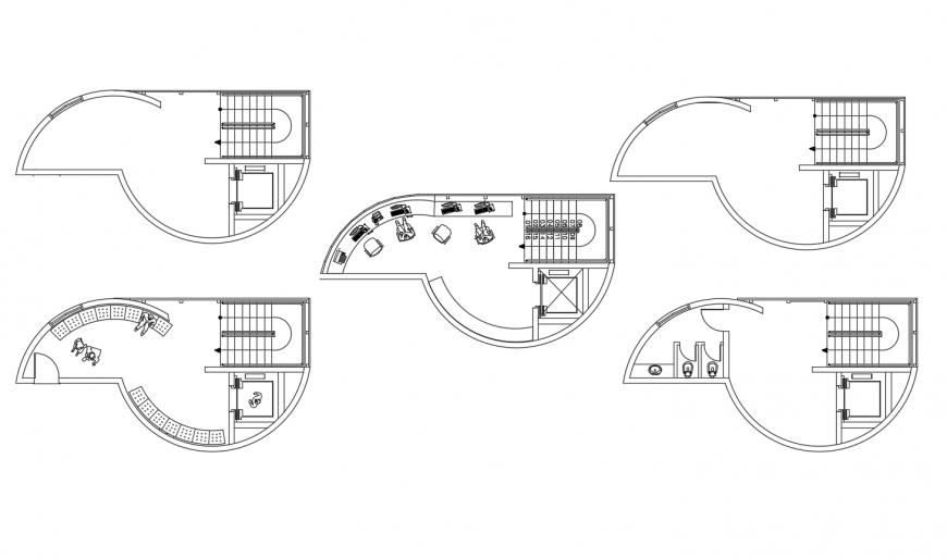 Floor plan distribution details of domestic airport building cad drawing details dwg file